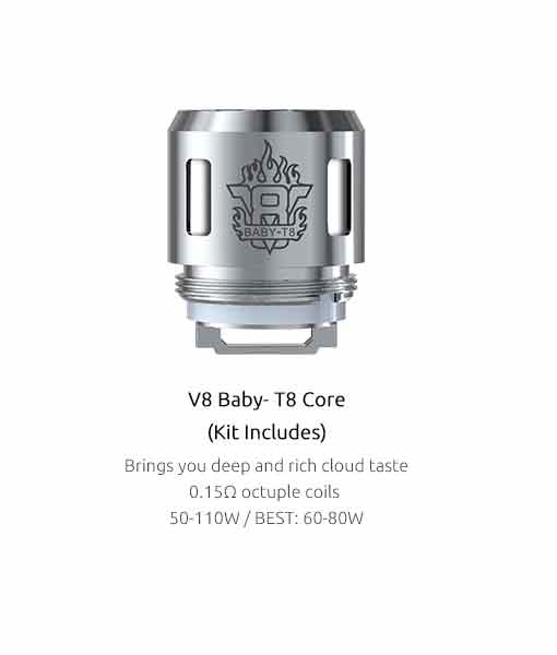 SMOK TFV8 Baby Coils (5-Pack) - Authentic Smok Baby-T8 0.15 Ω ( 5pcs / pack)