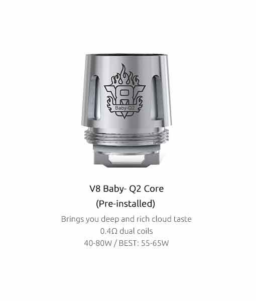 Authentic Smok V8 Baby-Q2 0.4 Ω (5pcs / pack)