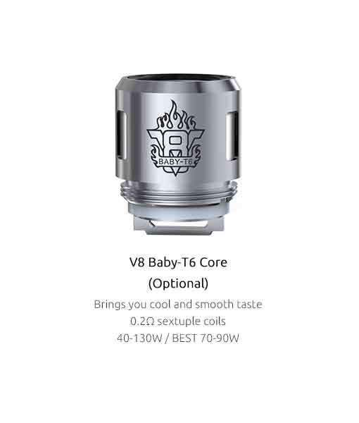 SMOK TFV8 Baby Coils (5-Pack) - Authentic Smok V8 Baby-T6 0.2Ω 5 Pack