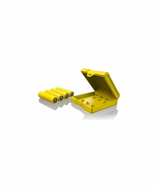 Chubby Gorilla Quad 18650 Battery Case in Yellow