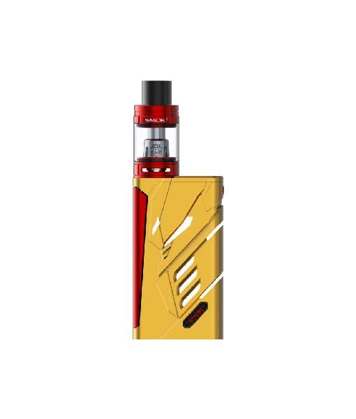 SMOK T- Priv + TFV8 Big Baby Tank Kit KMG Import TFV8 Big Baby Tank Kit 220W 9-Color Custom LED OLED SCREEN two 18650 batteries Gold Red