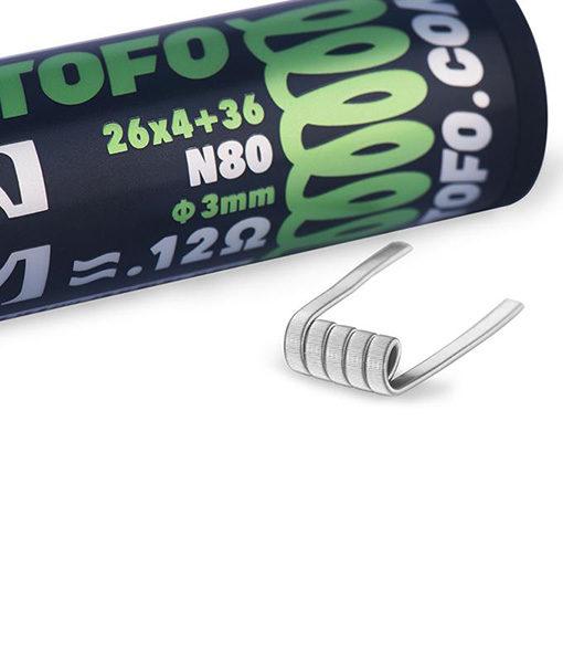 Wotofo Quad Core Fused Clapton Pre-Built Coils - 10 Pieces 0.12 ohm