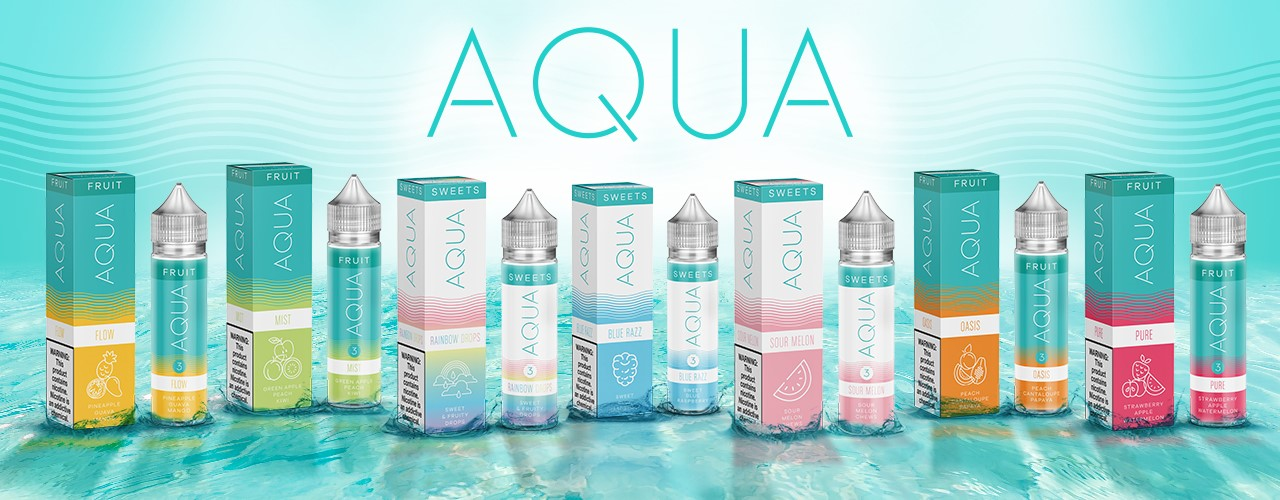 Aqua E-Liquid Banner – KMG Imports