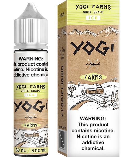 yogi farms ice white grape 60ml